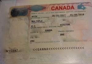 Анна виза гостевая Канада 2017