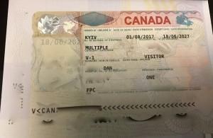 краткосрочная мультивиза в Канаду 2017-2